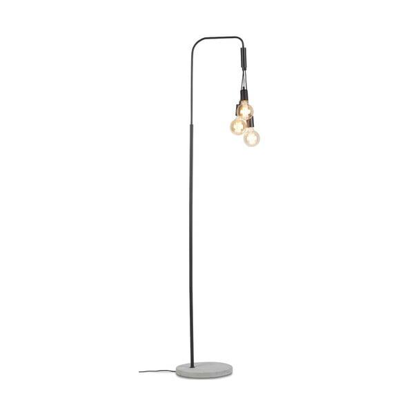 Černá volně stojící lampa s podstavcem z betonu Citylights Oslo