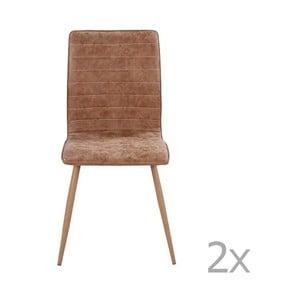 Sada 2 hnědých jídelních židlí RGE Robin