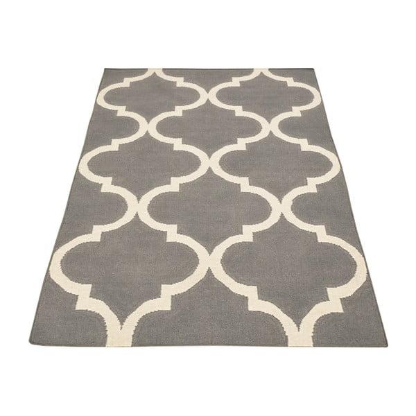 Vlněný koberec Caroline Grey, 155x240 cm