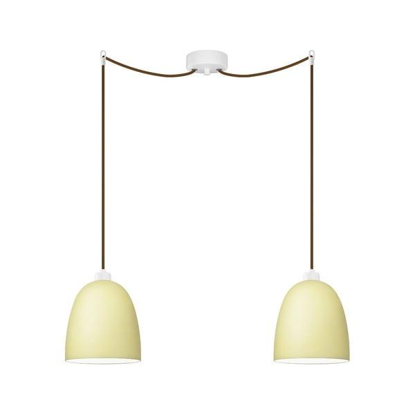 Dvojité světlo AWA Elementary ecru matte/brown/white