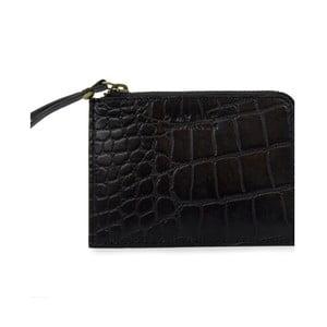 Černá kožená peněženka na drobné O My Bag Luxury