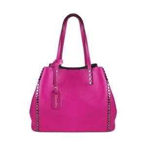 Fuchsiová kožená kabelka Maison Bag Milú