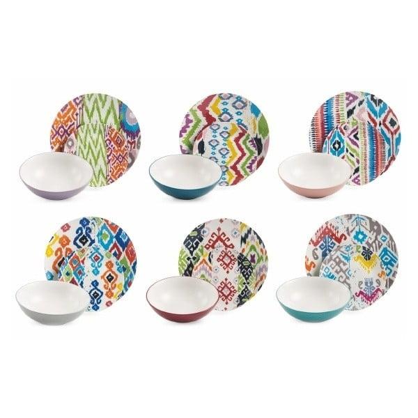 18dílná sada barevného nádobí z kameniny Villa d'Este Cartagena
