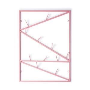 Růžový nástěnný věšák &New Twigs