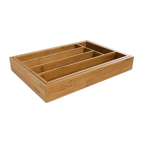 Wkład bambusowy do szuflady Bambum Casilias, 25,5x25,5 cm