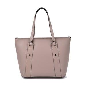 Světle růžová kožená kabelka Roberta M Misie