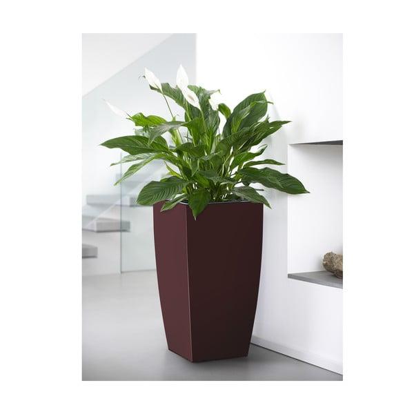 Vysoce odolný květináč Casa Brilliant 66x36 cm, rubínový