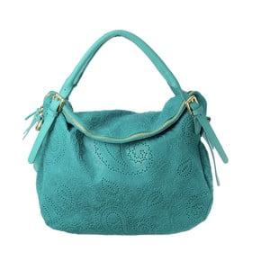Geantă din piele Tina Panicucci Promo, verde - albastru