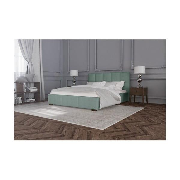 Mentolově zelená dvoulůžková postel s úložným prostorem Guy Laroche Home Allure, 180x200cm