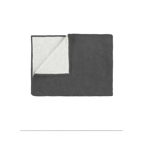 Fleecový pléd Marc O'Polo Classic, 150x200 cm, antracitový
