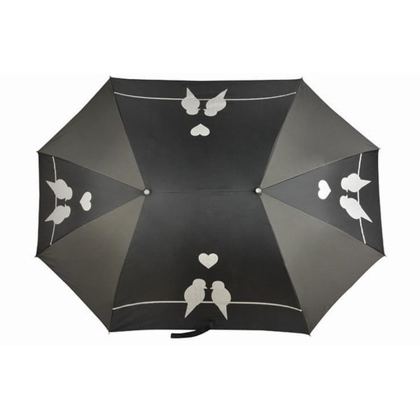 Černý deštník pro dvě osoby Du Parapluie