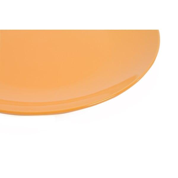 Sada 6 talířů Kaleidos 27 cm, oranžová