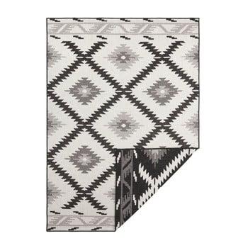 Covor cu 2 fețe Bougari Twin Supreme Duro, 80 x 150 cm, negru-crem
