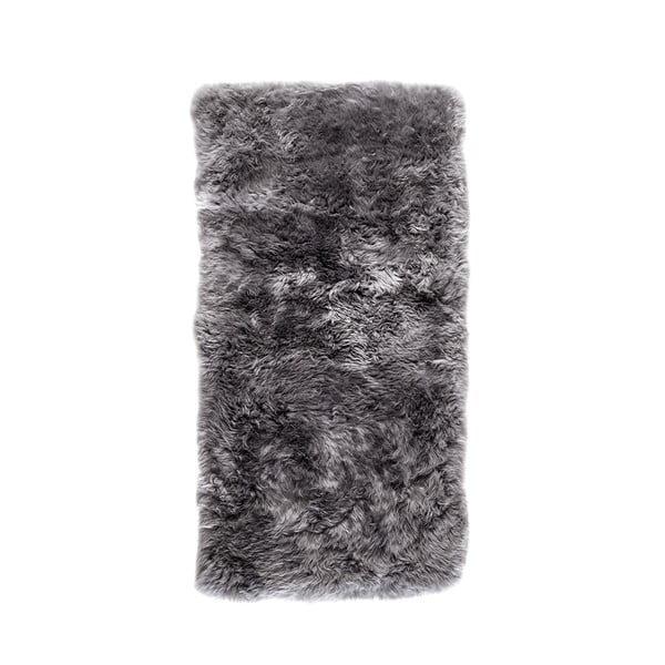 Šedý koberec z ovčí kožešiny Royal Dream Zealand, 140x70cm