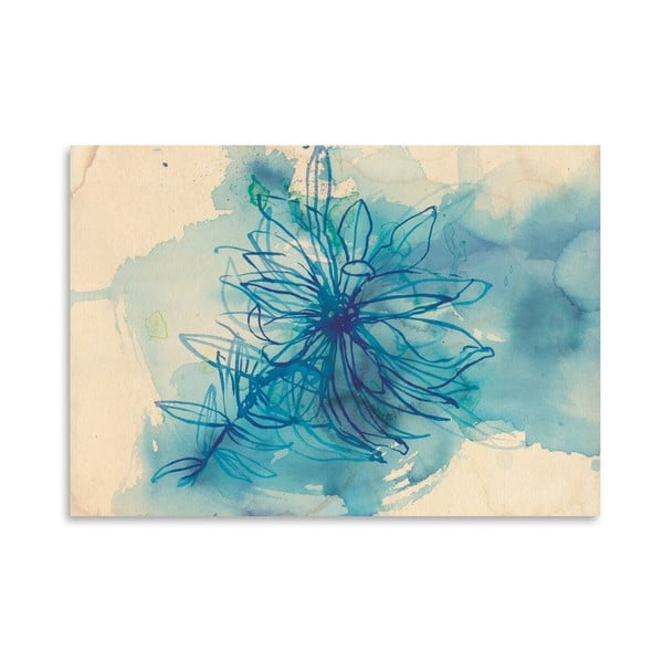 Plakát Blue Wash Wild Flower, 30x42 cm