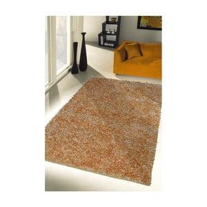 Žlutý koberec Webtappeti Shaggy, 60x100cm