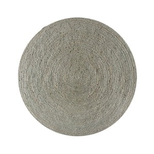 Koberec z juty Linen Couture Rug Circle Grey, ⌀ 140 cm