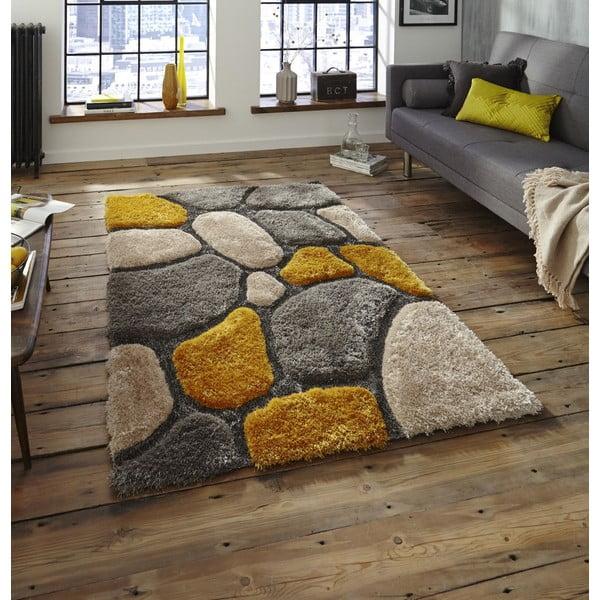 Žlutý koberec Think Rugs Noble House, 120x170cm