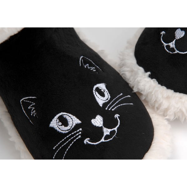Papuče Pompom Cat Black, vel. 37/38