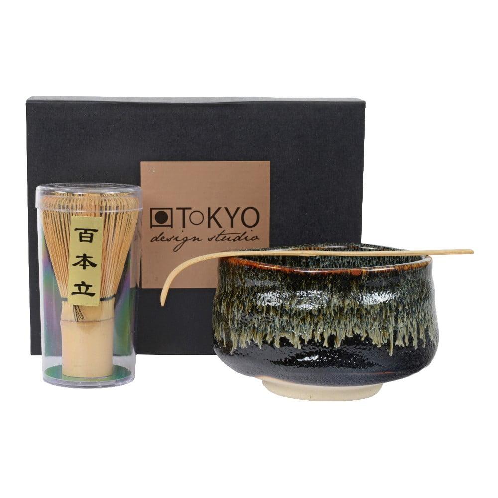 Dárkový set na přípravu Matcha Tea Tokyo Design Studio Black