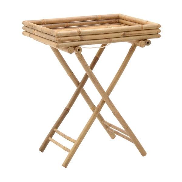 Bambusový stolek stácem InArt Bamboo