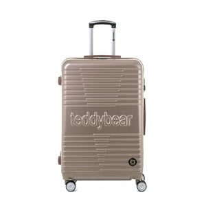 Cestovní kufr ve zlaté barvě na kolečkách Teddy Bear Monica, 107 l