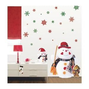 Samolepka Fanastick Christmas Red Flakes, 30 kusů