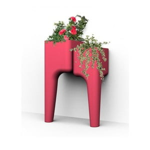 Designový květináč KIGA Small 88x34 cm, červený