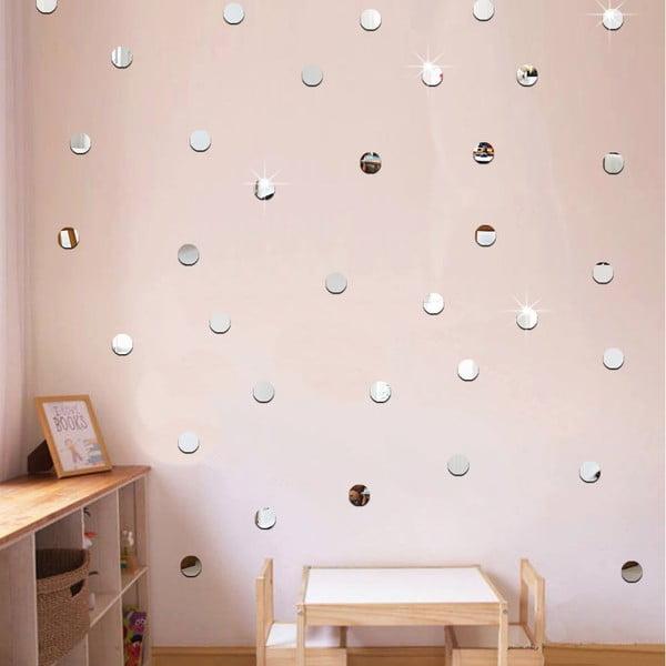 Set 100 autocolante oglindă de perete Ambiance Dots
