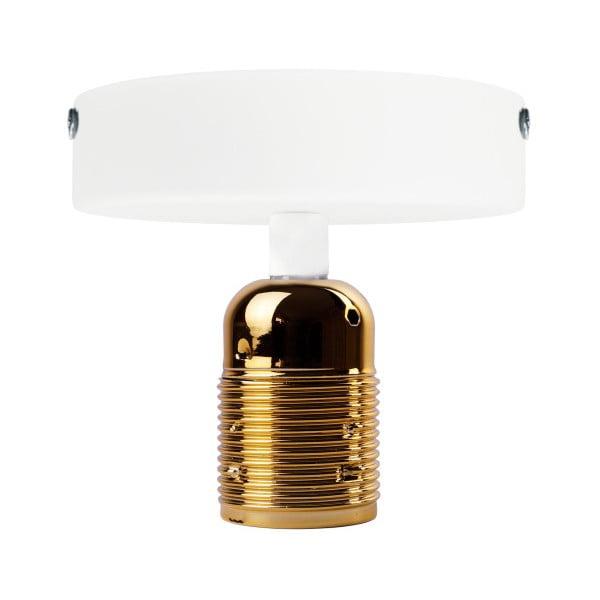Bílé stropní svítidlo se zlatou objímkou Bulb Attack Uno Basic