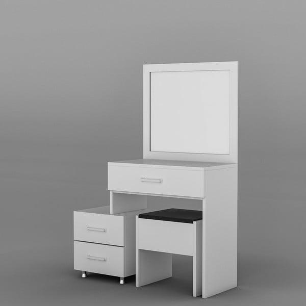 Biely drevený toaletný stolík Alacati