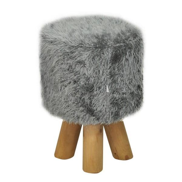 Stolička Happy Barok Kivi Fur, šedá