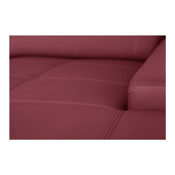 Růžová pohovka Modernist Cardigan, pravý roh