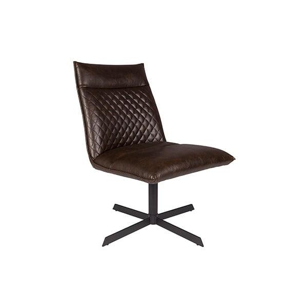 Tmavě hnědá židle White Label Ivar