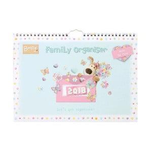 Nástěnný rodinný organizér pro rok 2018 Portico Designs Boofle, A4