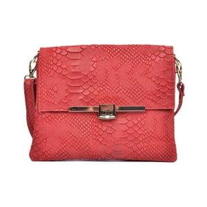 Červená kožená kabelka Sofia Cardoni Mila