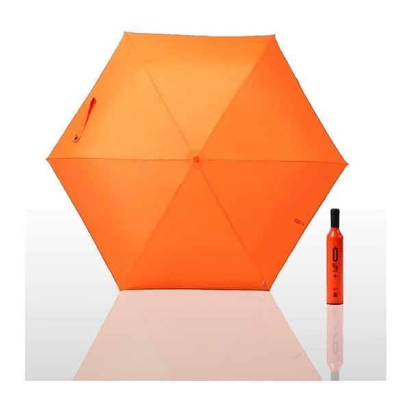 Skládací deštník 0 % plus, oranžový