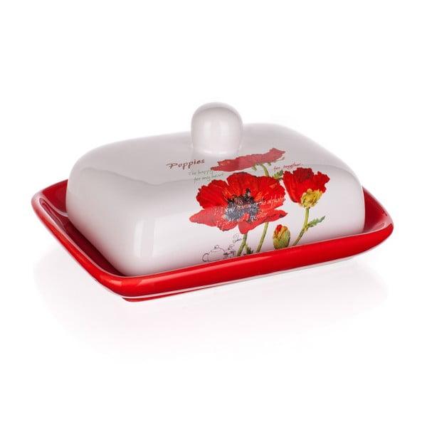 Keramická máslednka Banquet Red Poppy