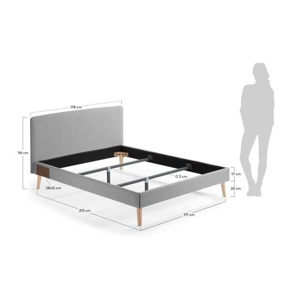Šedá dvoulůžková postel La Forma Lydia, 200x160cm