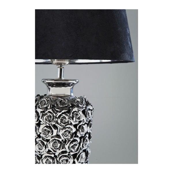 Stolní lampa ve stříbrné barvě Kare Design Rose