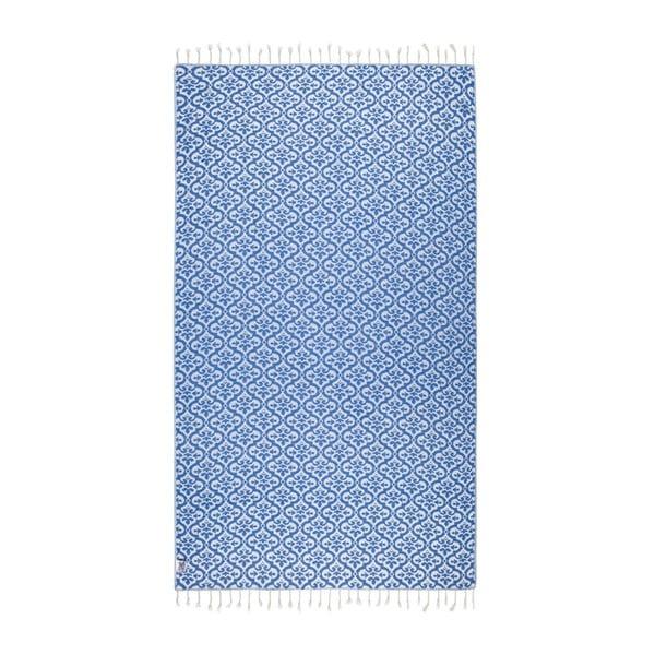 Modrá hammam osuška Kate Louise Bonita, 165×100cm