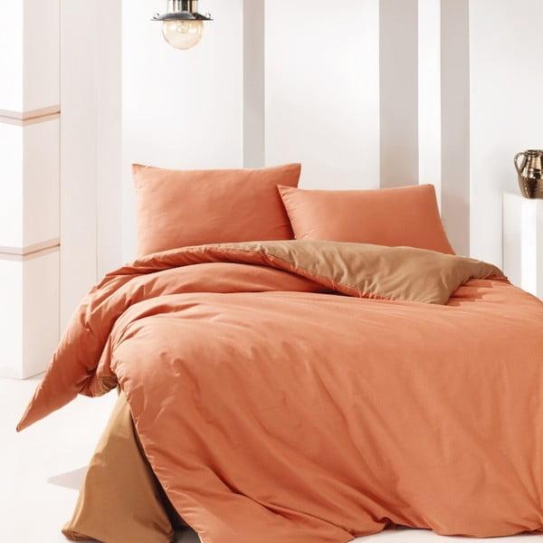 Lenjerie de pat din bumbac Suzy Orange, 200x220cm