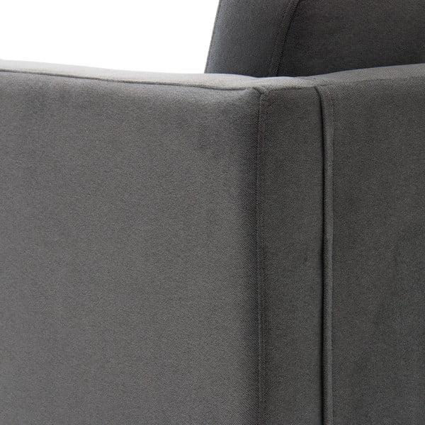 Světle šedá trojmístná pohovka Vivonita Sondero, černé nohy
