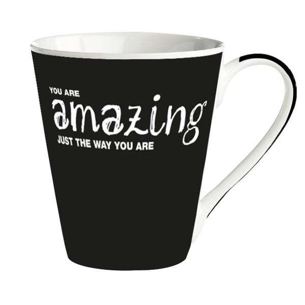 Porcelánový hrnek KJ Collection You Are Amazing Just The Way You Are, 300 ml
