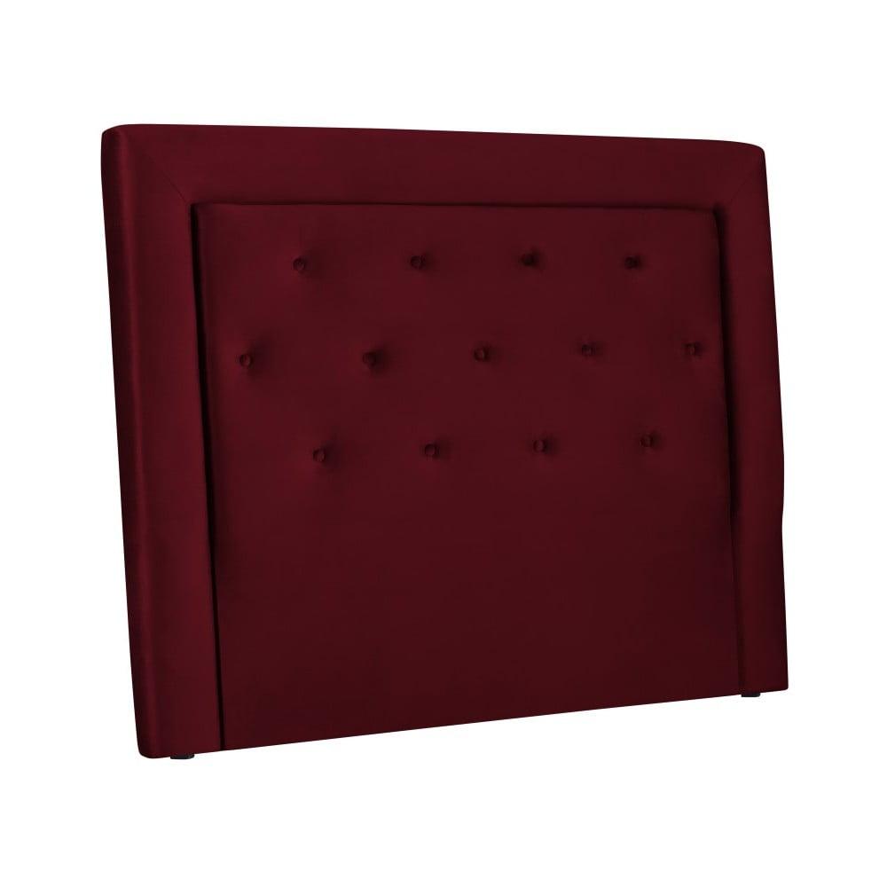 Vínově červené čelo postele Cosmopolitan Design Cloud, šířka 140 cm