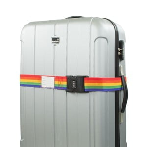 Duhový bezpečnostní pás na kufr Bluestar