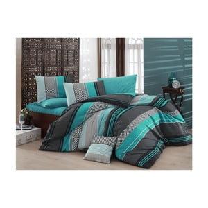 Lenjerie de pat cu cearșaf Turquise Dream, 160 x 220 cm