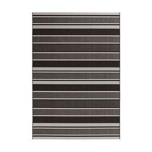 Černošedý koberec vhodný do exteriéru Bougari Strap, 160x230cm