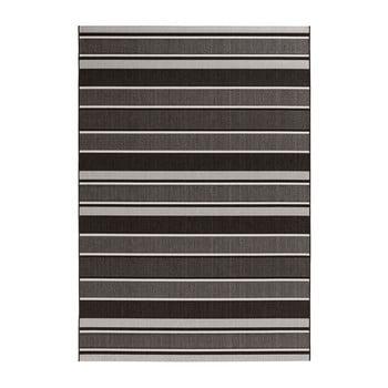 Covor potrivit pentru exterior Bougari Strap, 120 x 170 cm, negru