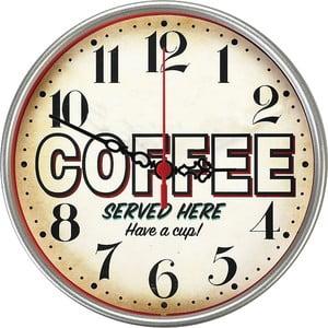Nástěnné hodiny Served Here, 30 cm